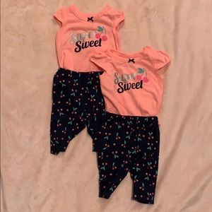Worn once! Carter's Newborn Super Sweet Twin Girl